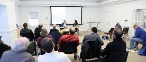 Dr. Timothy Dobe and Dr. Sumathy Ramaswamy speaking on Muslim Gandhi