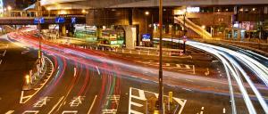 Tokyo highway at night
