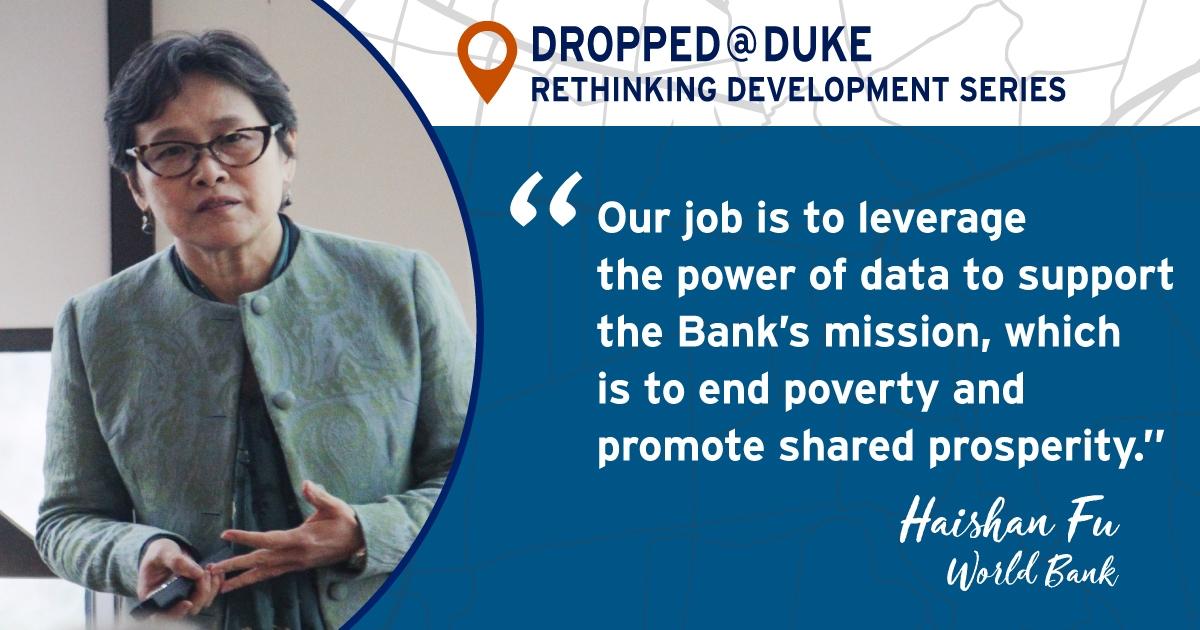 "Haishan Fu: ""Big Data for Development"" at Duke University"