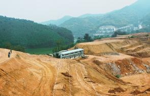 China countryside road construction