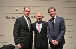 Ambassador (ret.) Patrick Duddy, Admiral Stavridis, and DUCIGS director Giovanni Zanalda