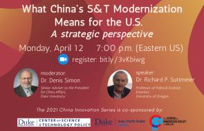Dr. Richard P. Suttmeier (Professor of Political Science, Emeritus, University of Oregon)