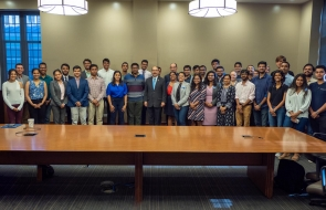 Duke students with the Indian Ambassador