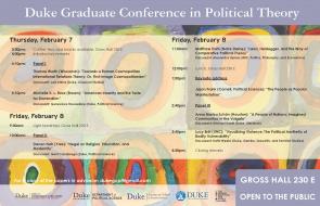 Graduate Conference schedule