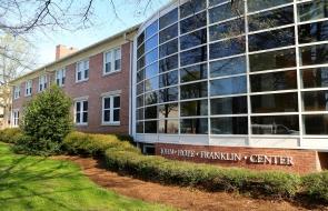 An exterior photo of the John Hope Franklin Center.