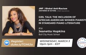 Jeanetta Hopkins Speaks at Wednesdays at the Center at Duke University