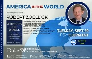 Robert Zoellick Event Flyer