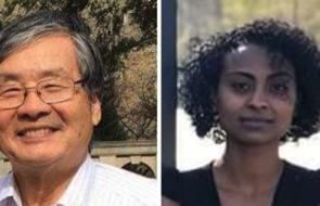 Professor Hiroyuki Hino and Duke 2019 Graduate, Kalkidan Lakew Yihun