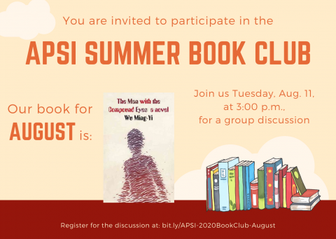 The Man with the Compound Eyes - APSI Summer 2020 Book Club, August