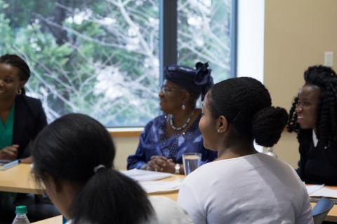 Dr. Ngozi Okonjo-Iweala with students