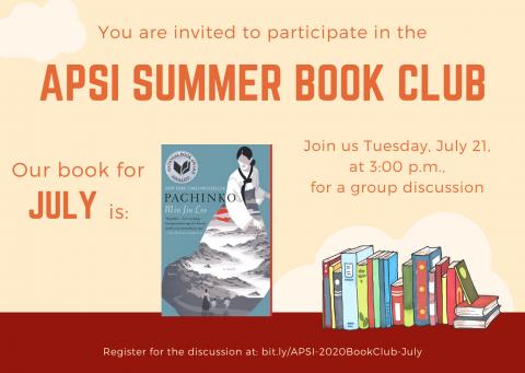 Pachinko - APSI July 2020 Book Club