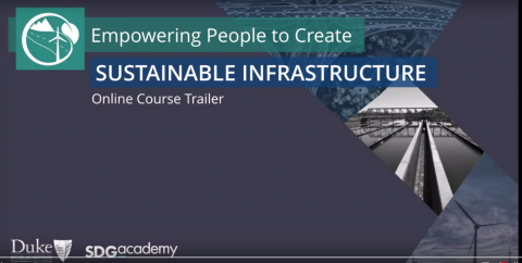 Sustainable Infrastructure online training flyer