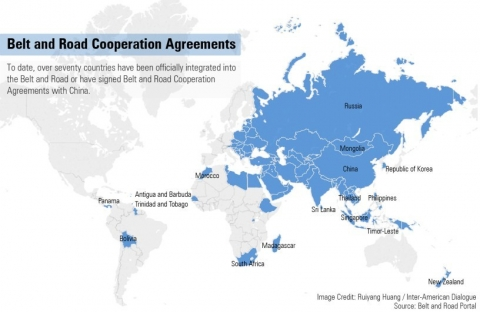 Belt and Road Cooperation Agreements map
