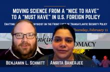 Ben Schmitt and Amrita Banerjee Speak at Duke Center for International and Global Studies