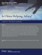 Is China Helping Africa? Coverpage Image