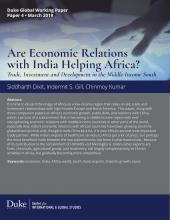 Are Economic Relations with India Helping Africa? Coverpage Image