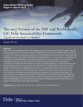 The 2017 Version of the IMF and World Bank's LIC Debt Sustainability Framework