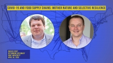 Two male faces - Elliott Wolf (left) and Daniel Wintz (right) of Lineage Logistics