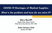 Covid 19 Shortages of Medical supplies