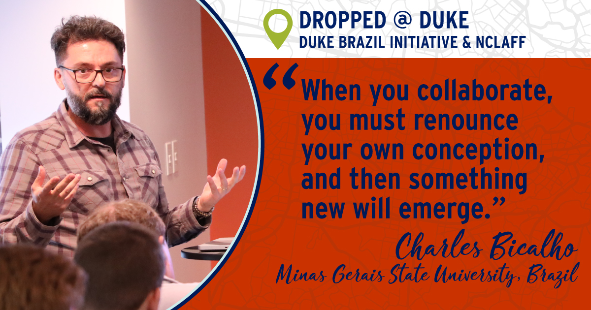 """When you collaborate, you must renounce your own conception, and then something new will emerge."" Charles Bicalho"