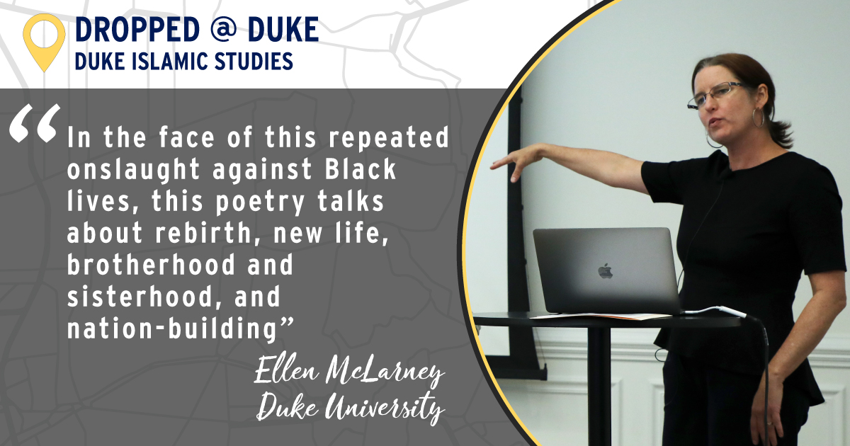 """In the face of this repeated onslaught against Black lives, this poetry talks about rebirth, new life brotherhood and sisterhood, and nation-building."" Ellen McLarney, Duke University"