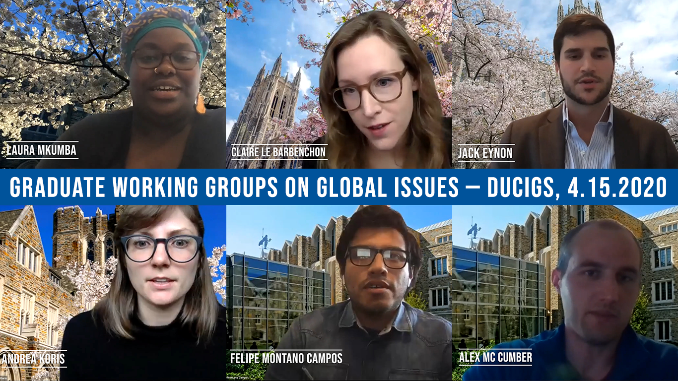 Graduate Working Groups on Global Issues - 4.15.20